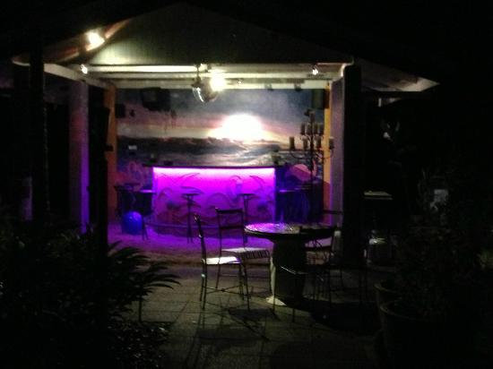 Pink Flamingo: Outdoor bar