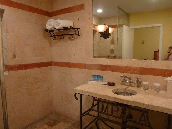 Impala Hotel: Sdb avec douche italienne et WC