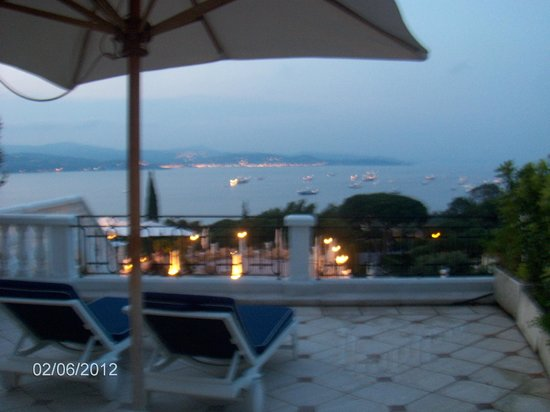 Villa Belrose Hotel: view from our suite in the evening