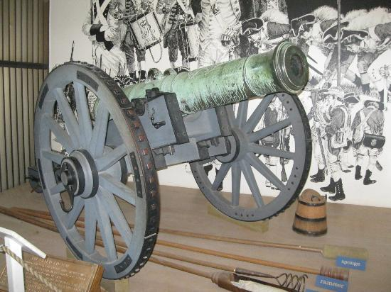 American Revolution Museum at Yorktown: British Bronze Cannon on the display.