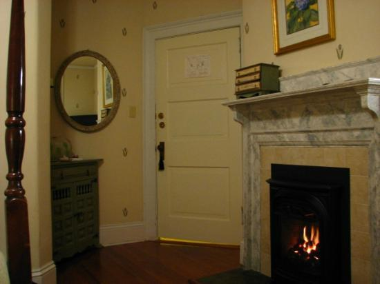 Carolina Bed & Breakfast: Fireplace