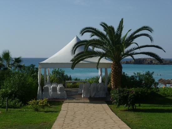 Nissi Beach Resort: The Wedding gazebo - fantastic view