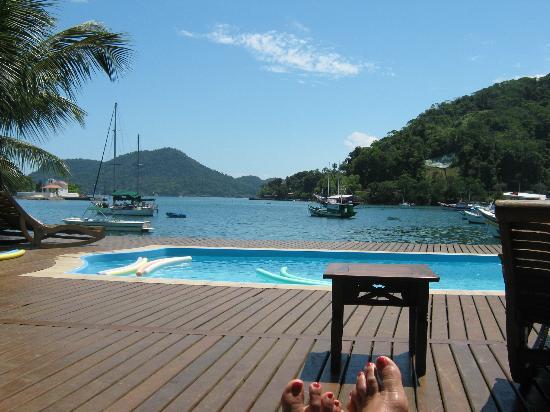 Pousada Jamanta: vista desde el deck 