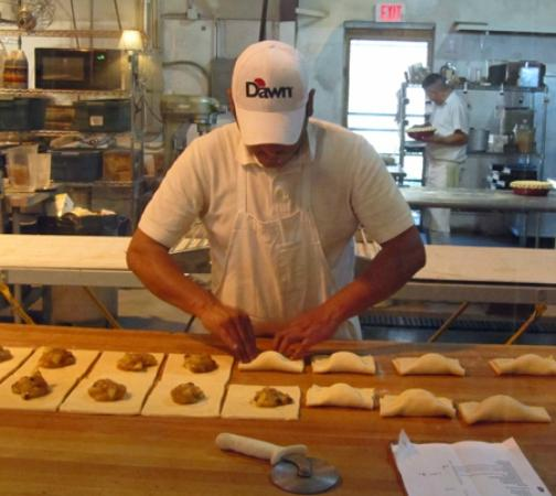 Chocolate Maven Bakery & Cafe : You can watch the bakers at work.
