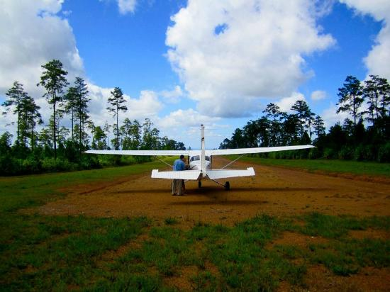 Hidden Valley Inn: Hidden Valley's private charter airstrip