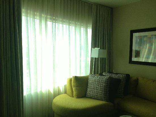 Embassy Suites by Hilton Houston Downtown: Corner King Suite living area