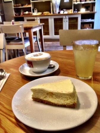 Henri: lovely light lemon cheesecake.