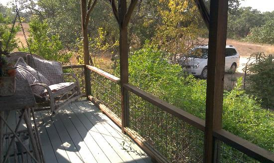 The Red Corral Ranch: This is the wonderful porch swing at Meadows Cottage!