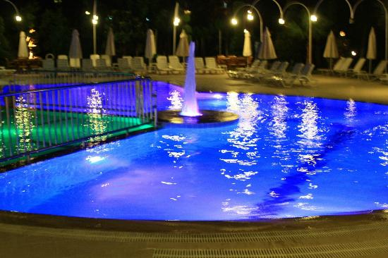 Opus Apart Hotel: pool at night
