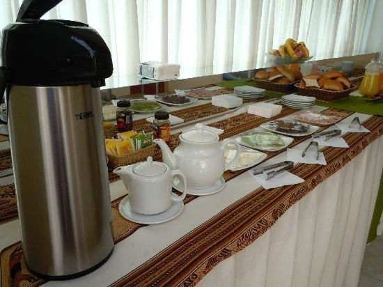 Hotel Unumizu Cusco: El desayuno buffet que se sirve en el 5to piso
