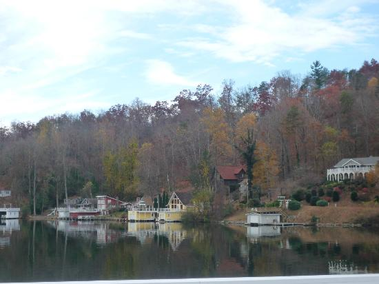 The Lodge on Lake Lure: View from our private balcony