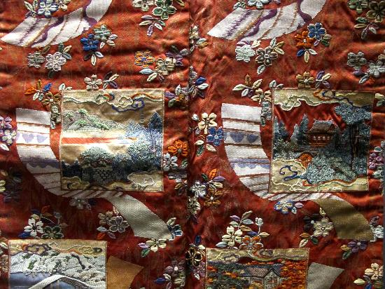 Nationalmuseum Tokyo: Detail of exquisite Japanese textile
