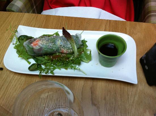 restaurant brasserie le 7 : oriental inspired dish