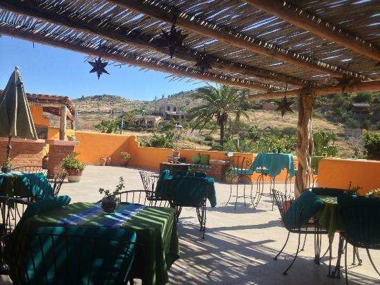 Posada La Poza: The rooftop restaurant.