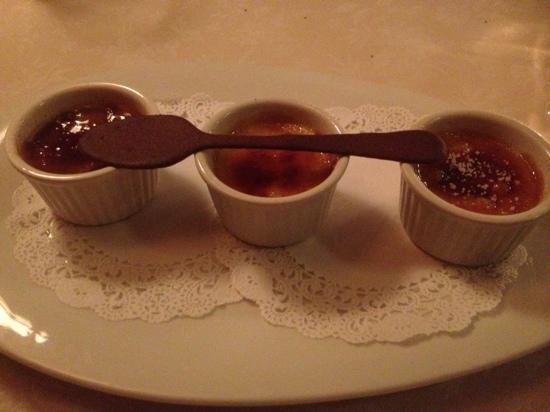 Da Maurizio Dining Room: trio brûlée!