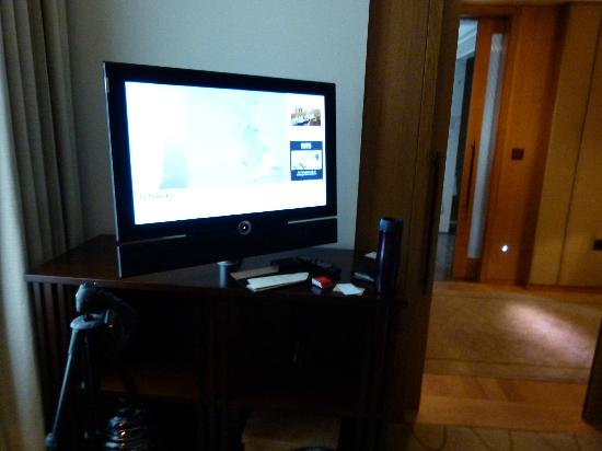 Corinthia Hotel London: The TV in our room