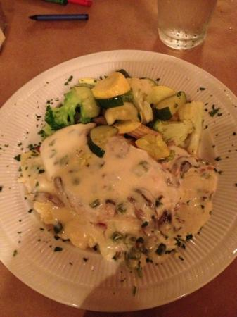 Republic of the Rio Grande: grilled chicken with mushroom poblano cream sauce