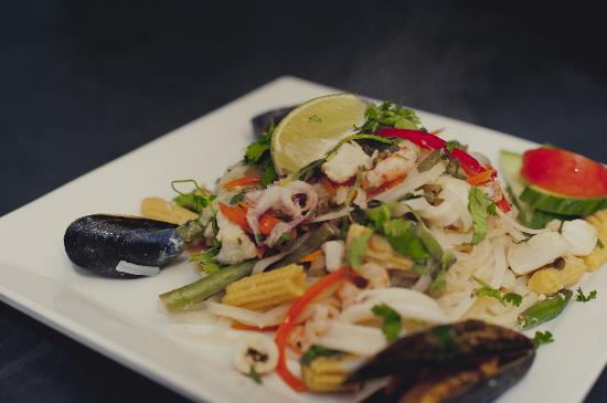 Spice Root Kitchen and Bar: Hot & Sour Seafood Salad