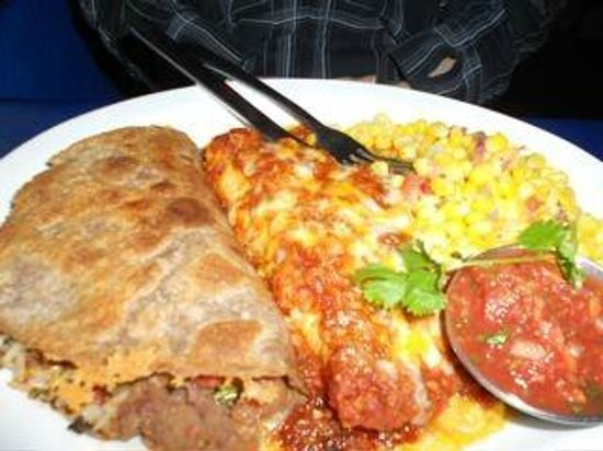 Gina's Mexican Cafe: Quesadilla and enchilada