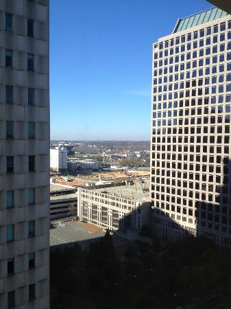 Charlotte Marriott City Center: My view from my room in the morning!! :)