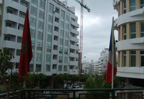 Tanjah Flandria: Vista desde la terraza del hotel...