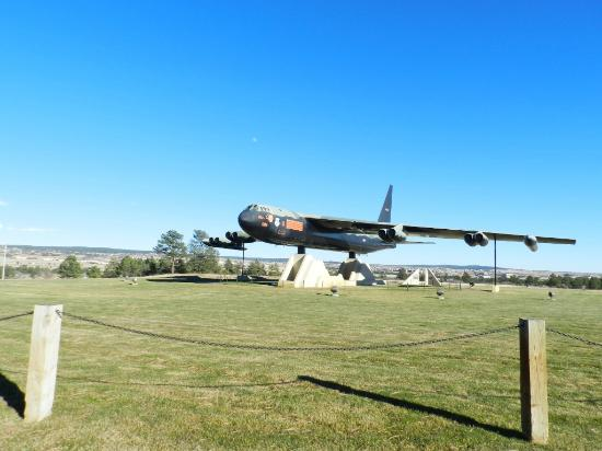 United States Air Force Academy: Plane on the grounds of the US Air Force Academy Chapel