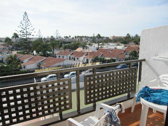 Hotel Parquemar: View from of balcony of 2nd floor studio apartment