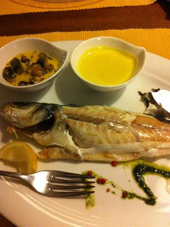 Zuvine: Steamed sea bass