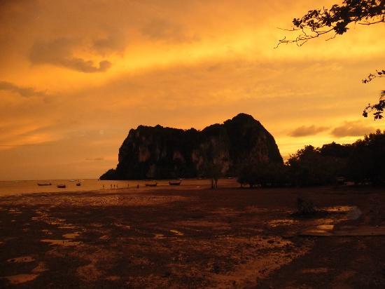 Railay Beach: Tramonto est