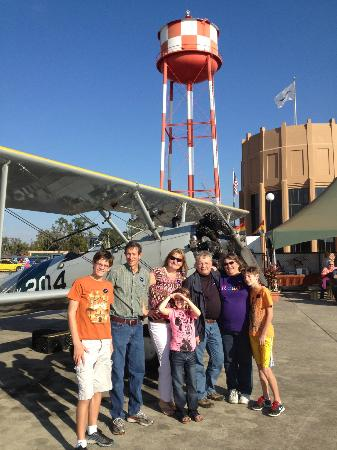 ‪‪Fantasy of Flight‬: With my family at Fantasy of Flight, prior to flying the Stearman with Sarah Wilson.