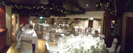 Wainstones Hotel: the reception room