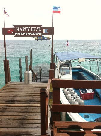 Sipadan Water Village Resort: Dive Boat
