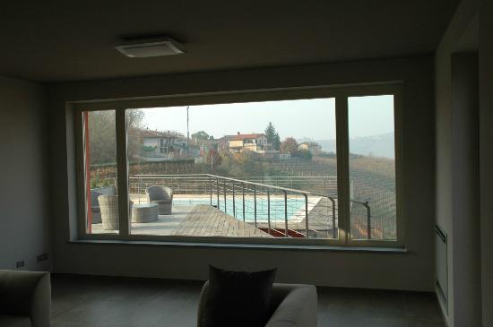 Relais Casa Sobrero: vista dal soggiorno del relais