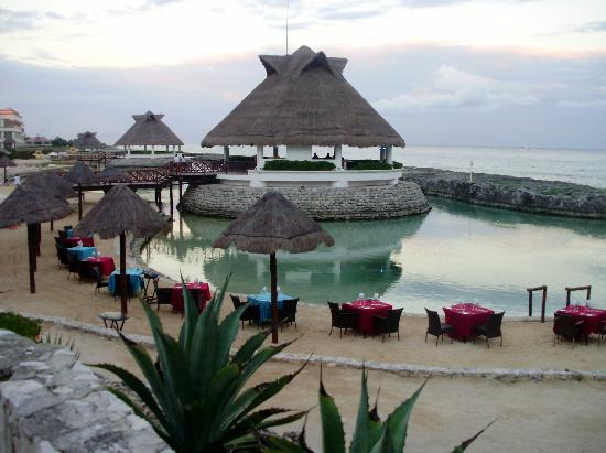 Heaven at the Hard Rock Hotel Riviera Maya: Palapa overlooking a lagoon