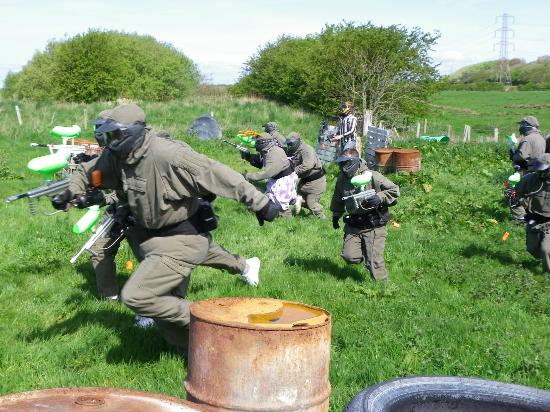 Start of paintball game  - Impact Blackpool