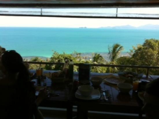 Artrium Tropical Exclusive Club & Spa: Ausblick beim Frühstücken