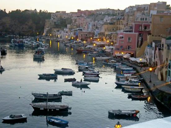 Hotel La Corricella: View of Procida harbour