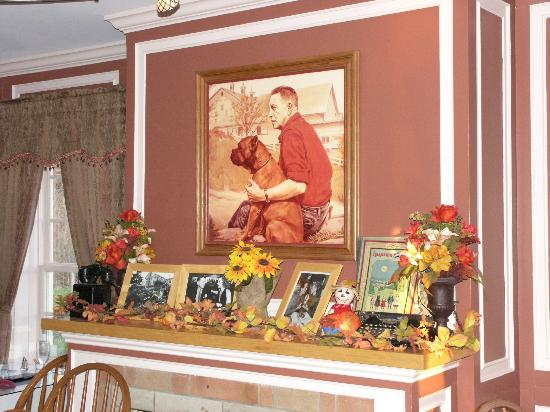 Malabar Farm Restaurant: Portrait of Louis and Prince in the Bromfield Room (NOV 9 2012)