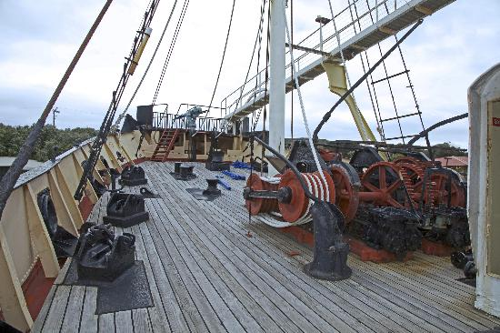 Discovery Bay Tourism Experience: On the deck of the whaling ship