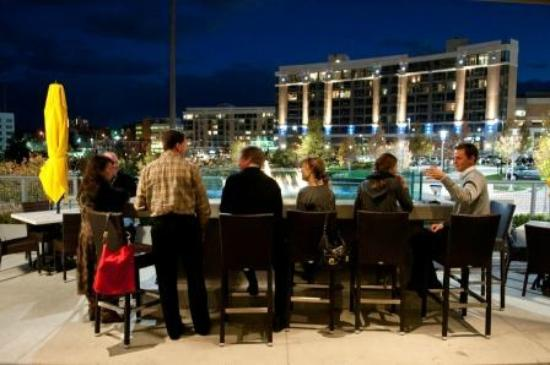 Cantina Laredo Omaha Mexican In Midtown Crossing Enjoying The View Of Turner Park From