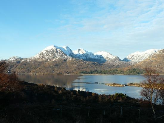 Glen Torridon: Beinn Alligin rearing above the loch