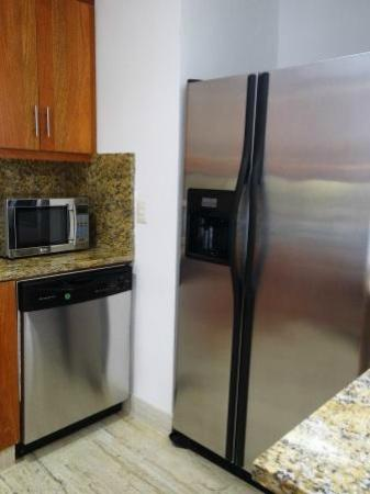 Los Altos Residences : Kitchen Detail including double door refrigerator