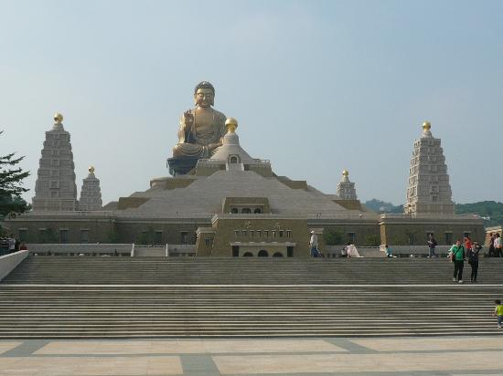 Fo Guang Shan Buddha Memorial Centre : View of BMC from just outside the reception building
