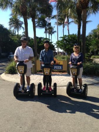Segway Tours of Naples: Tony, Marcia and Megan