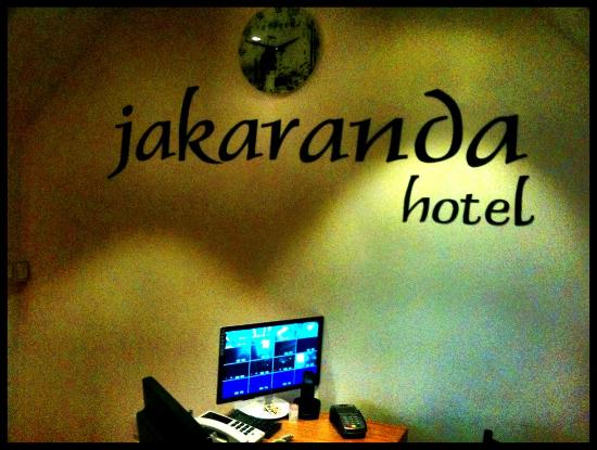 Jakaranda Hotel: Rezeption