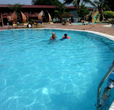 Teluk Dalam Resort: The kiddie pool in the background