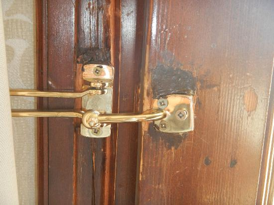 The Westin Europa U0026 Regina, Venice: Rotted Door Outside Door Lock With  Screw Barely