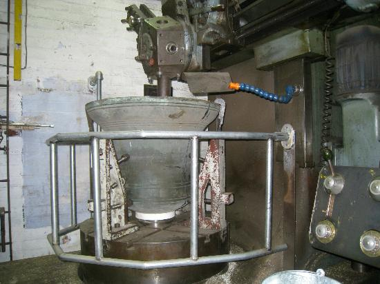 John Taylor Bellfoundry Museum: The second bell being retuned