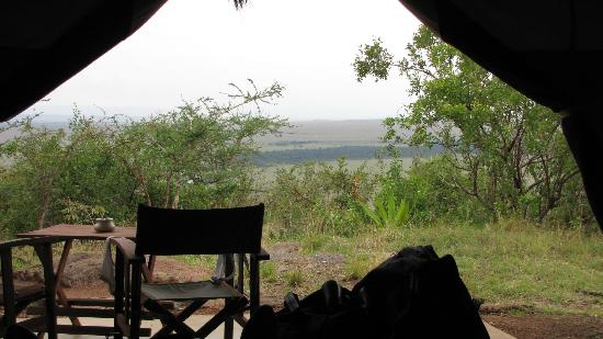 Kilima Camp: view from the tent