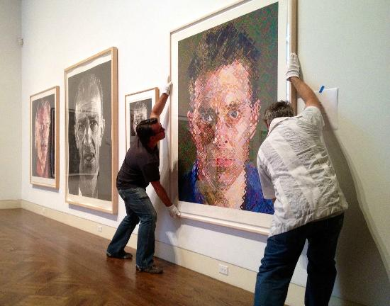 Monterey Museum of Art – Pacific Street: Installing Chuck Close